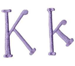 Quirky Girl Alphabet K