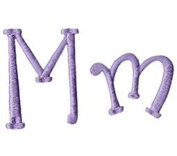 Quirky Girl Alphabet M