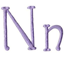 Quirky Girl Alphabet N