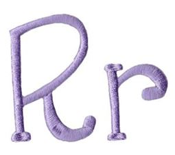 Quirky Girl Alphabet R