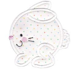 Round Bunny Applique