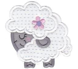Round Sheep Applique