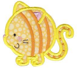 Round Cat Applique