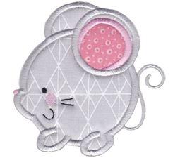Round Mouse Applique