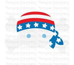 Patriotic Skull SVG