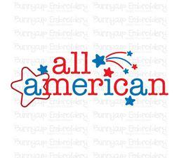 All American Word Art SVG