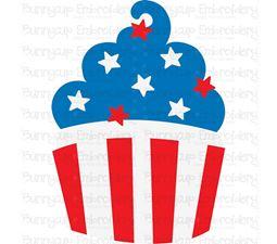 Patriotic Cupcake SVG