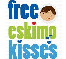 Free Eskimo Kisses SVG