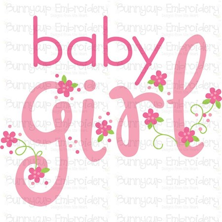 Baby Girl Sentiments 1 SVG