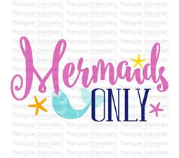 Mermaids Only SVG