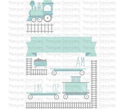Train Birth Announcement US am SVG