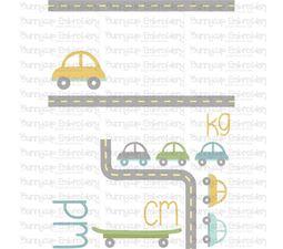 Car Birth Announcement Metric pm SVG