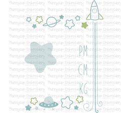 Space Birth Announcement Metric pm SVG