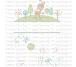 Forest Birth Announcement US pm SVG