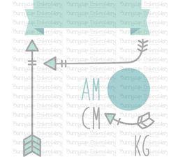 Modern Birth Announcement Metric am SVG