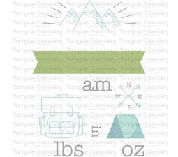 Camping Birth Announcement US am SVG