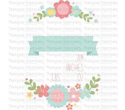 Floral Birth Announcement US am SVG