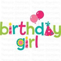 Birthday Girl SVG
