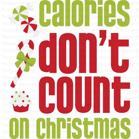 Calories Don't Count On Christmas SVG