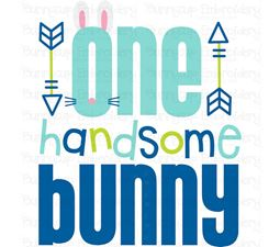 One Handsome Bunny SVG