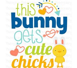 This Bunny Gets Cute Chicks SVG