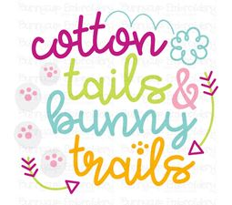 Cotton Tails and Bunny Trails SVG