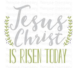 Jesus Christ Is Risen Today SVG