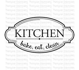 Kitchen Bake Eat Clean SVG