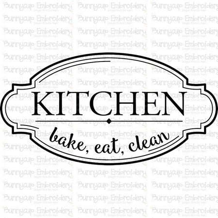 Kitchen Bake Eat Clean SVG - Bunnycup SVG