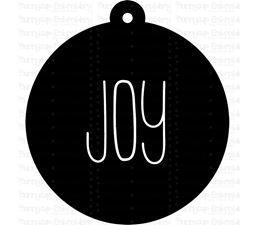 Joy Farmhouse Christmas Gift Tag SVG