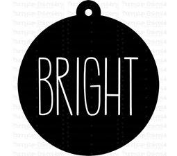 Bright Farmhouse Christmas Gift Tag SVG
