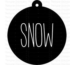 Snow Farmhouse Christmas Gift Tag SVG