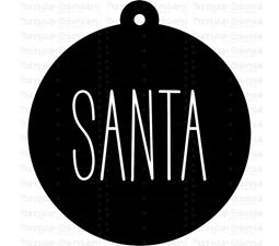 Santa Farmhouse Christmas Gift Tag SVG