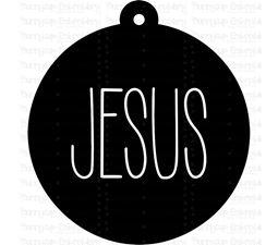 Jesus Farmhouse Christmas Gift Tag SVG