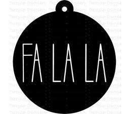 Fa La La Farmhouse Christmas Gift Tag SVG