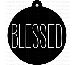 Blessed Farmhouse Christmas Gift Tag SVG