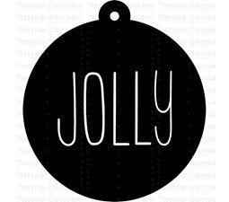 Jolly Farmhouse Christmas Gift Tag SVG