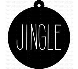 Jingle Farmhouse Christmas Gift Tag SVG