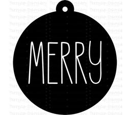 Merry Farmhouse Christmas Gift Tag SVG