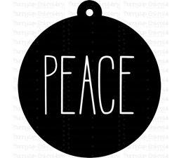Peace Farmhouse Christmas Gift Tag SVG