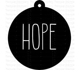 Hope Farmhouse Christmas Gift Tag SVG