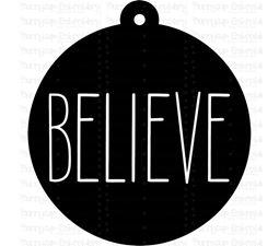 Believe Farmhouse Christmas Gift Tag SVG