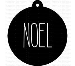 Noel Farmhouse Christmas Gift Tag SVG