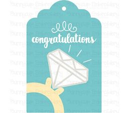 Engagement Ring Congratulations Gift Tag SVG
