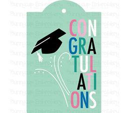 Graduation Congratulations Gift Tag SVG