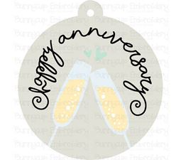 Happy Anniversary Gift Tag SVG