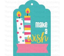 Make A Wish Birthday Gift Tag SVG