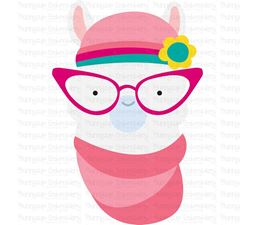 Hipster Llama Face SVG