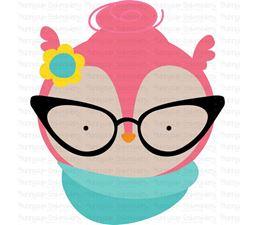 Hipster Owl Face SVG