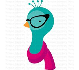 Hipster Peacock Face SVG